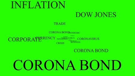 coronabond coronavirus cells covid-19 influenza with color of europe euro, concept of corona bond crisis for economy finance business europe for pandemic health risk recession on chroma key green screen background