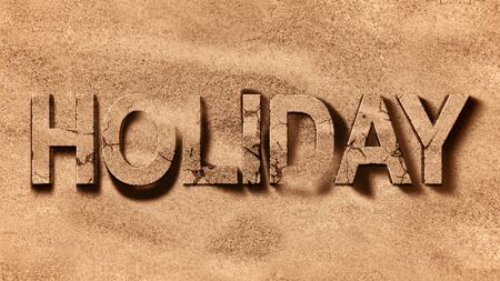 tropical caribbean beach sea with gold sand, holiday word, relax and travel concept