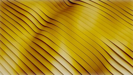abstract motion gold sparkle waves like material flowing, golden metallic background, seamless loop Banco de Imagens
