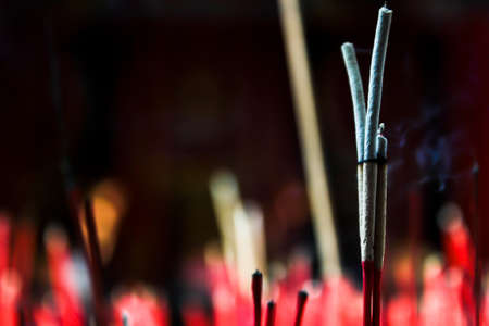 burnt out: Incense sticks are burnt out Stock Photo