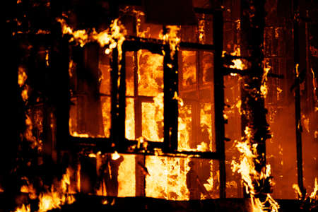 arson: House fire in the hot weather.