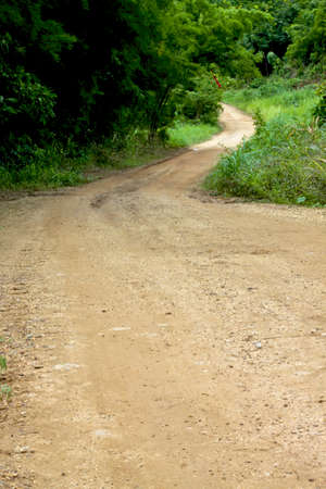 karpenisi: dirt road to the top of mountain Stock Photo