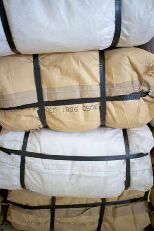 Pile plastic sacks photo