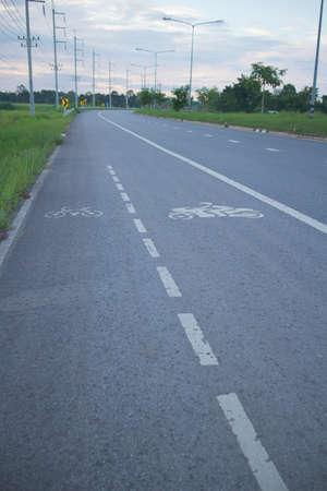 bike and motorcycle lane sign on highway