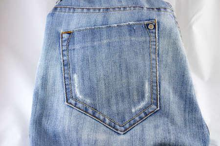 Blue jeans pocket. photo