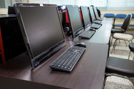 Computer training room.