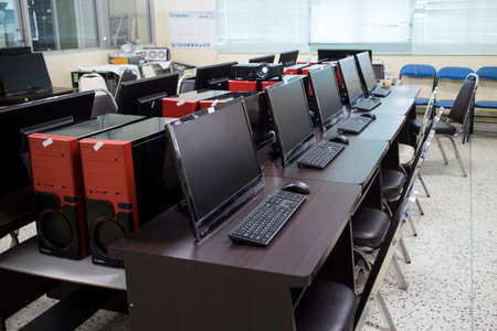 Computer training room.