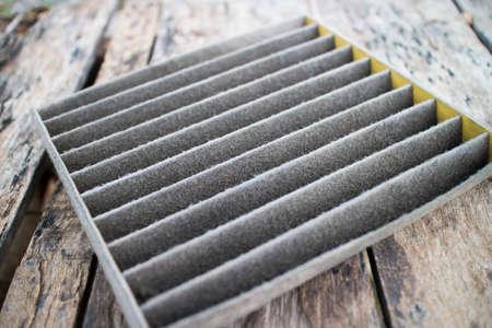 dirty car: Car air filter is dirty  Stock Photo