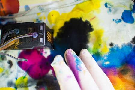 cartridges: ink printer repair Stock Photo