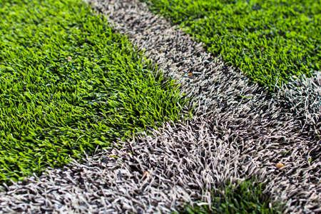 Artificial grass soccer pitch