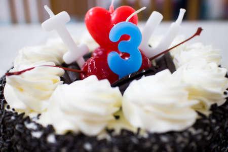 Happy Birthday, I love you, cherries, a full three years.