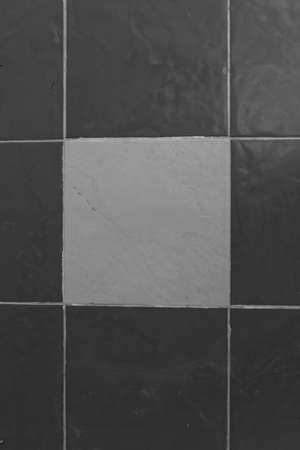 Black and white tile floor photo