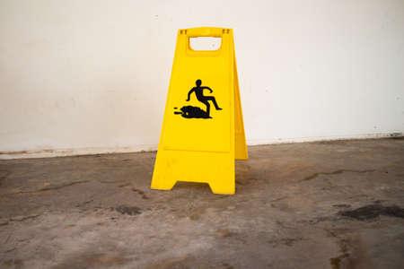 Beware of wet floor signs photo