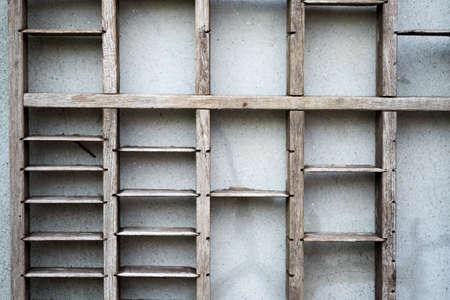 book racks: Shelves of old Stock Photo