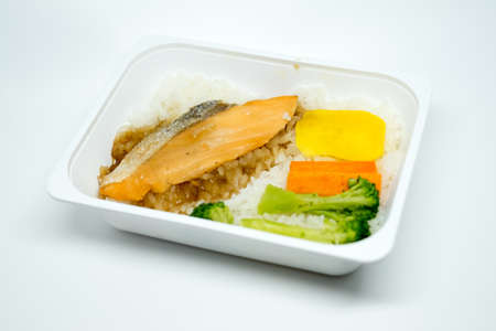Rice with fish Stock Photo