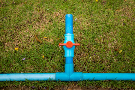 Water pipes in the garden