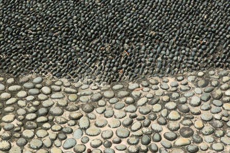 black cobbled road for health use