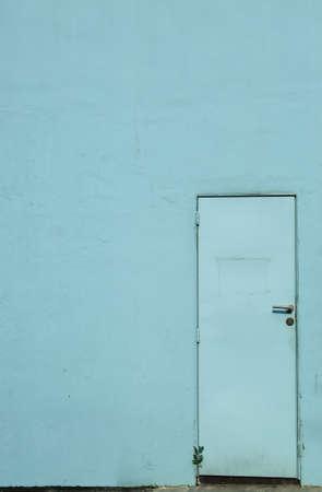 vintage blue door and wall Stockfoto