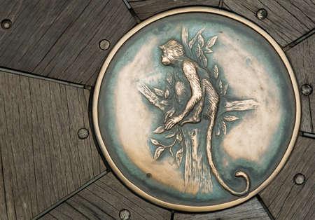monkey metal relief on floor