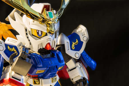 SINGAPORE-14 MAY 2017:Gundam toy display closeup