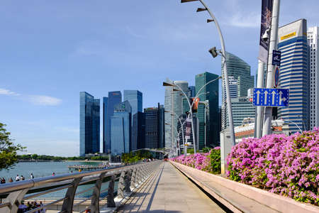 Singapore-13 APR 2019:Singapore Central Business District,The city located between the Singapore River, Marina Bay and Chinatown