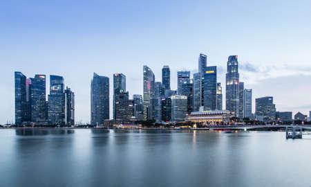 Singapur-JUN 07 2017:Singapur Marina Bay City Core Area Skyline
