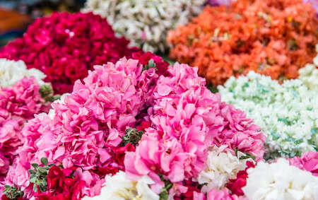 flower closeup view in indian traditional flower market