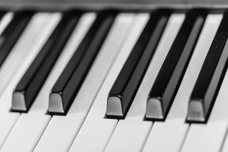 Piano keyboard background  Piano keys side view