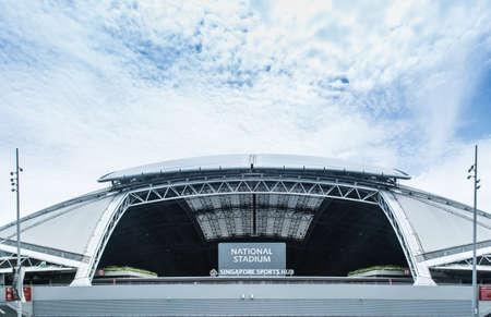 Singapore-16 AUG 2017: New biggest national stadium entrance in Singapore