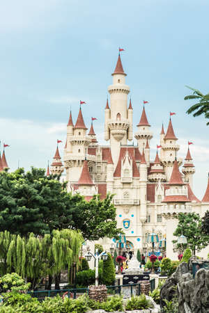 Singapore-26 SEP 2017: Singapore universal vintage studio castle view in forest