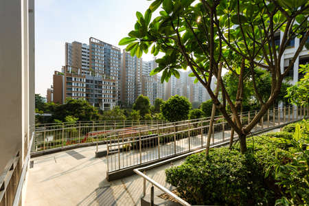 SINGAPORE-23 MAR 2019: Oasis Terrace building Singapore's New Neighborhood Center and Polyclinic
