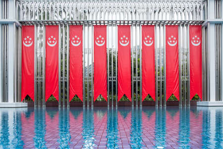 Singapore - 29 AUG 2018: Festival arch that is located in front of the main entrance of the Istana Park In Orchard Road, Singapore Editorial