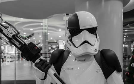Singapore-09 NOV 2017: Stormtrooper soldier figure display in shopping mall
