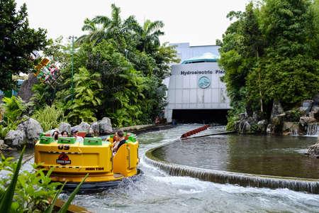 Singapore-28 NOV 2017:water adventure in Singapore universal studios