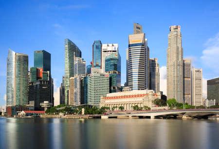 Singapore-23 JUN 2018:Singapore marina bay area CBD building skyline
