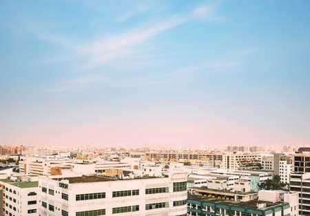 新加坡- 2018年7月13日:新加坡北部工业区鸟瞰图