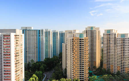 Singapur Wohngebiet Luftaufnahme tagsüber Standard-Bild