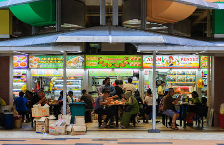 Singapore-17 MAR 2018:Singapore little Indian area Tekka Centre food court facade