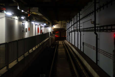 view of corridor in subway train tube