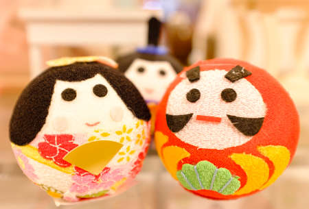 Japan traditional style cute toy doll closeup