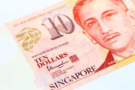 bank note singapore dollars closeup detail view Stock fotó