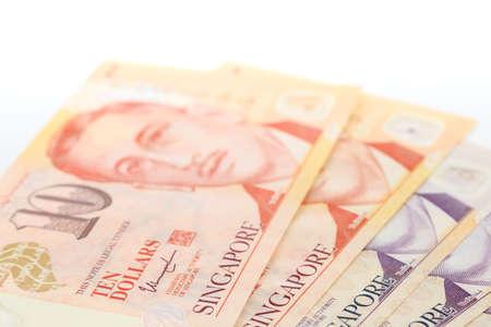 bank note singapore dollars closeup detail view Banco de Imagens