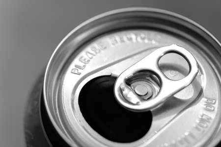 Beer Can Ring Pull, close up - open beer cans with locking ring