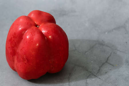 Big red pepper on white background isolated Archivio Fotografico