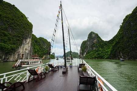 Cabin on Halong tourist boat