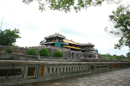View to DaiNoi castle in Hue province, VietNam