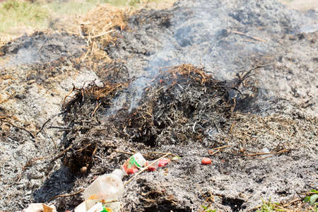 punishable: fumes garbage at the dump