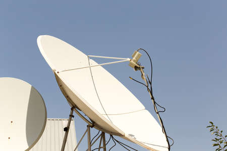 telecast: satellite dish in the yard