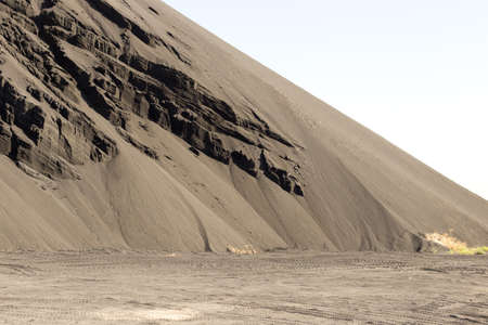 tons: 2 million tons of lead sludge in the territory of the Southern Kazakhstan region Stock Photo