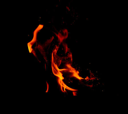 flametongue: Fire flames on black background